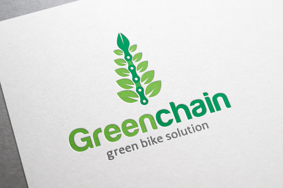 Green Chain Bicycle Logo