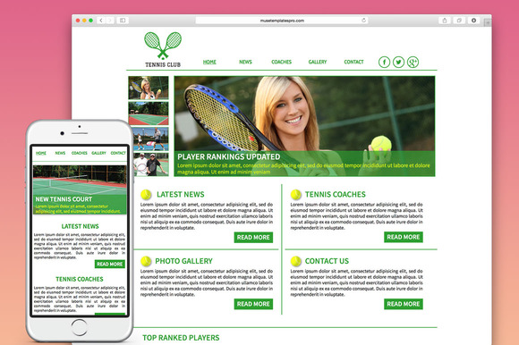 Tennis Adobe Muse Template