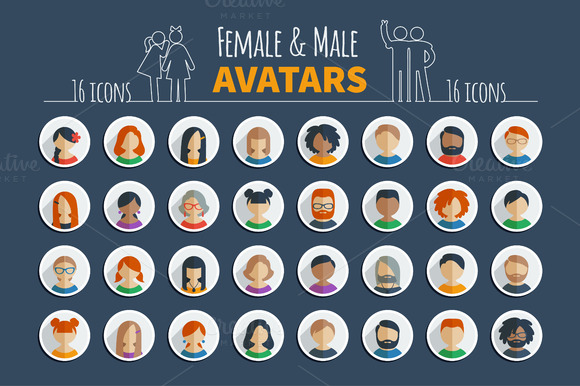 Male And Female Avatars