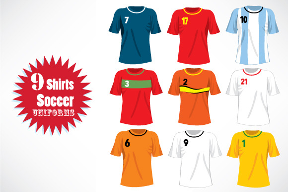 Soccer Team Uniforms Shirts