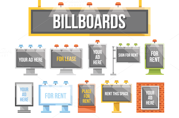 Flat Billboards Set