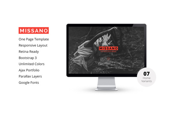 MISSANO Creative One Page Template