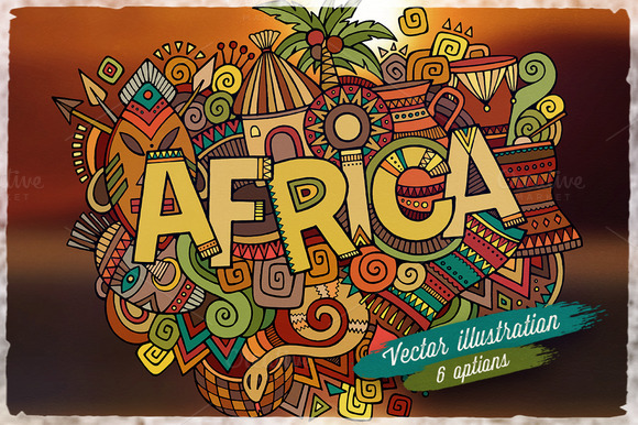 AFRICA Vector Illustrations