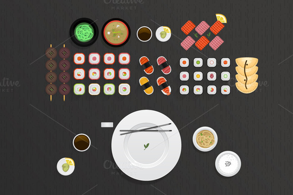 Sushi Food Collection