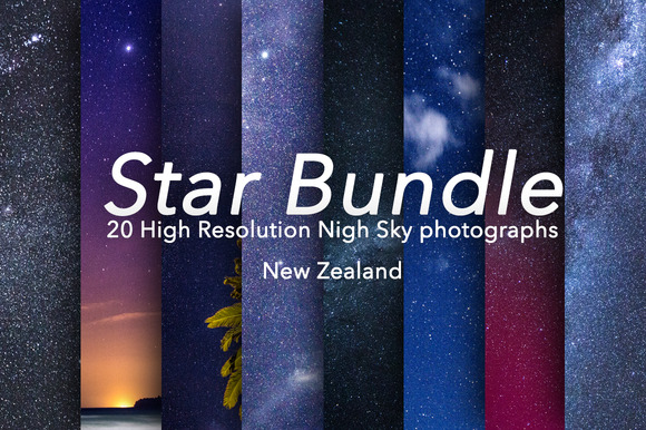 Star Bundle 20 Stars Photographs