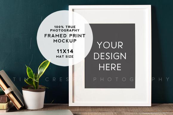 Rustic Teal Framed Print Mockup #4