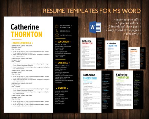 Simple 3 In 1 Word Resume Pack