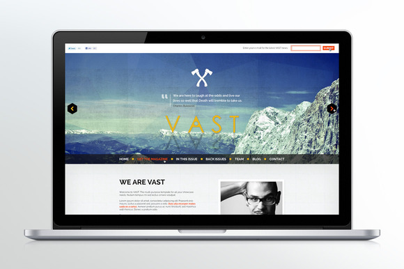VAST One Page Website And Blog
