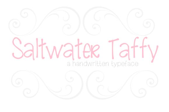 Saltwater Taffy-handwritten Font