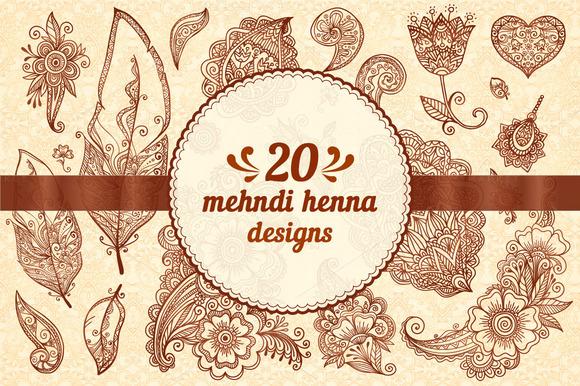 20 Henna Design Elements