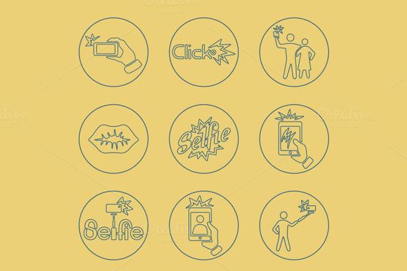 9 SELFIE Simple Icons