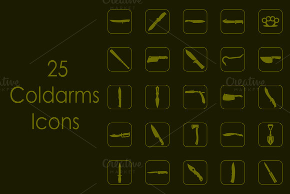 25 COLDARMS Simple Icons
