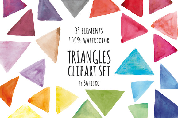 Watercolor Elements Triangles