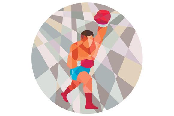 Boxer Boxing Punching Circle Low Pol