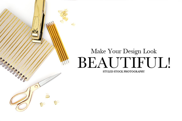 Gold Styled Stock Photography