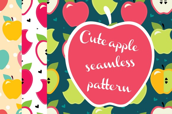 Delicious Apple Seamless Pattern
