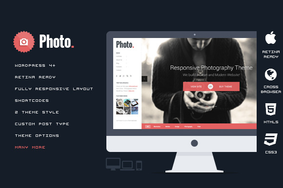 Photo Responsive WordPress Theme