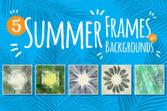 5 Summer Frames And Backgrounds
