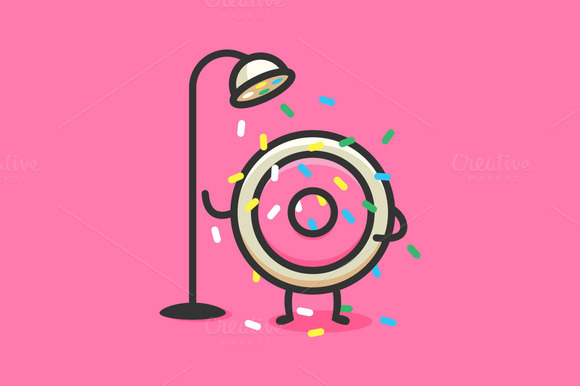 Donut Candy Shower Sticker
