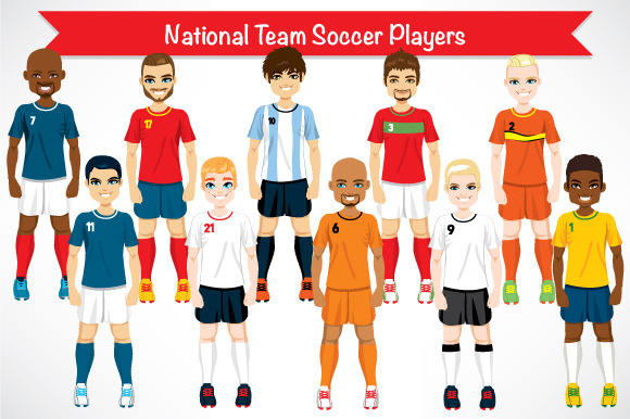 National Team Soccer Players