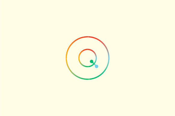 Abstract Colorful Line Letter Q Logo