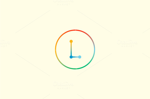 Abstract Colorful Line Letter L Logo