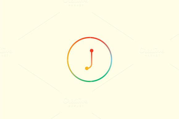 Abstract Colorful Line Letter J Logo