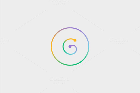 Abstract Colorful Line Letter G Logo