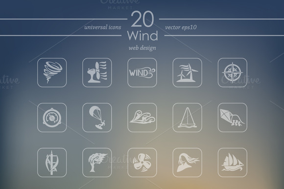 20 WIND Icons