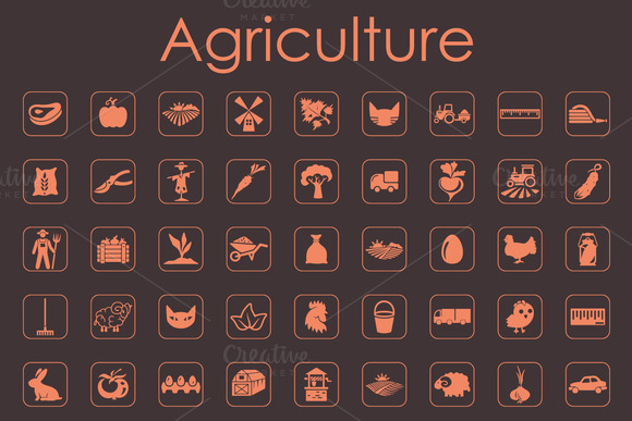 72 AGRICULTURE Simple Icons