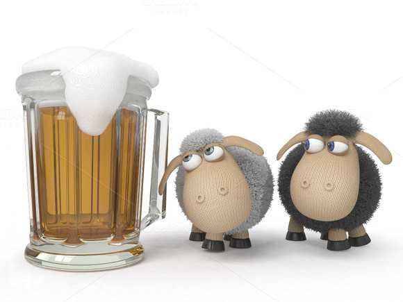 Sheep With Beer