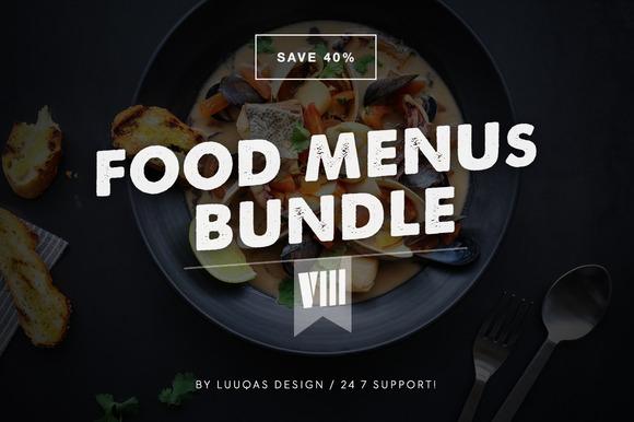 Food Menus Bundle 8
