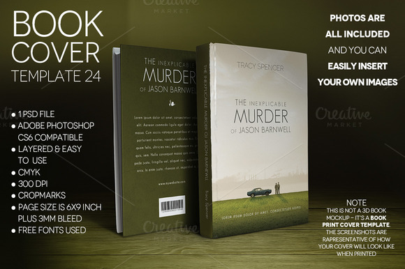 Book Cover Print Template 24