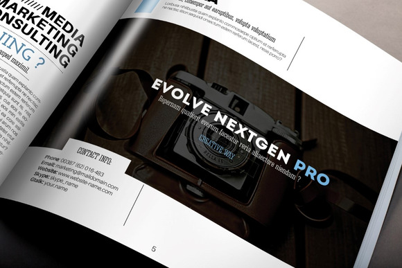 NextGen Square Brochure Template