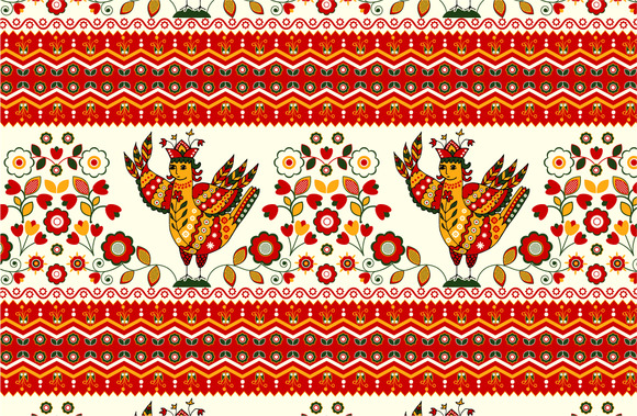 Russian Seamless Pattern