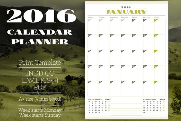 Printable 2016 Calendar Planner