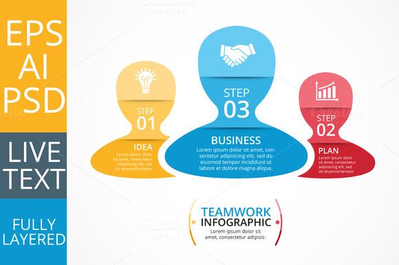 Teamwork Social Infographic