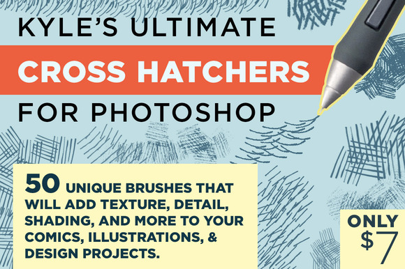 Kyle S Cross Hatchers For Photoshop