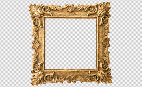Antique Golden Frame PNG
