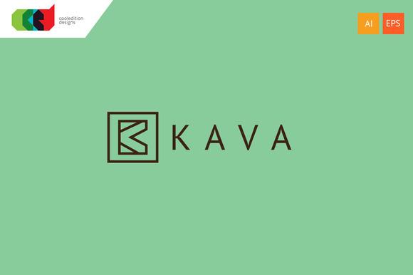 Kava Letter K Logo Template