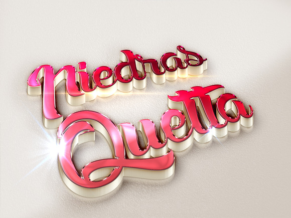 3D Text Styles Red Series
