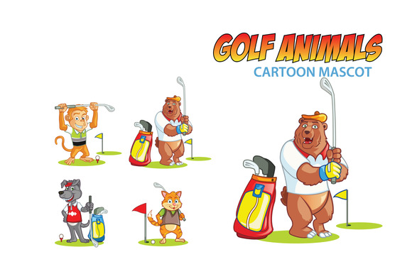 Golf Animal Mascots