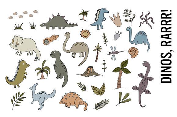 Dinosaurs Doodle Clipart