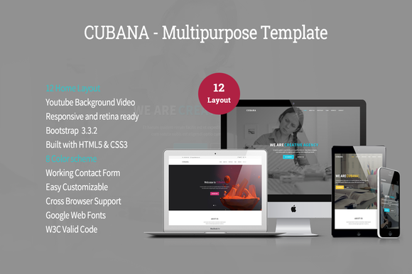 Cubana Multipurpose Template