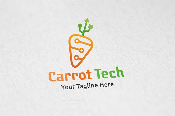 Carrot Tech Logo Template