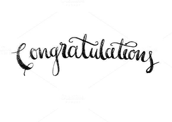 Congratulations Modern Calligraphy