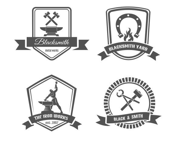 Blacksmith Logo Set