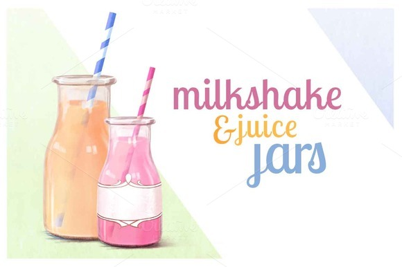 Milkshake Juice Jars