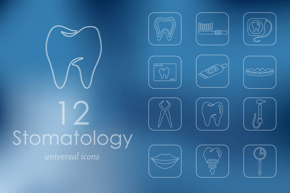 Set Of Stomatology Icons