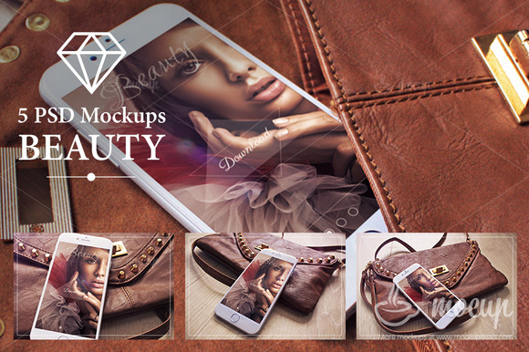 5 PSD IPhone 6 Mockups Beauty